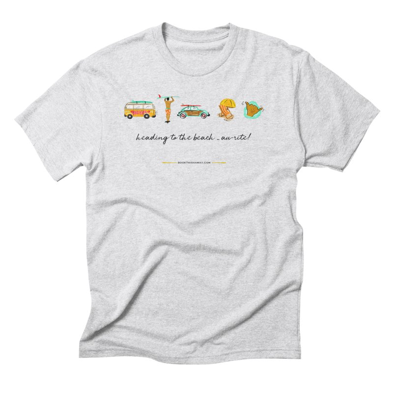 BTH.heading to beach.emoji Men's Triblend T-Shirt by Book This Hawaii Apparel Shop