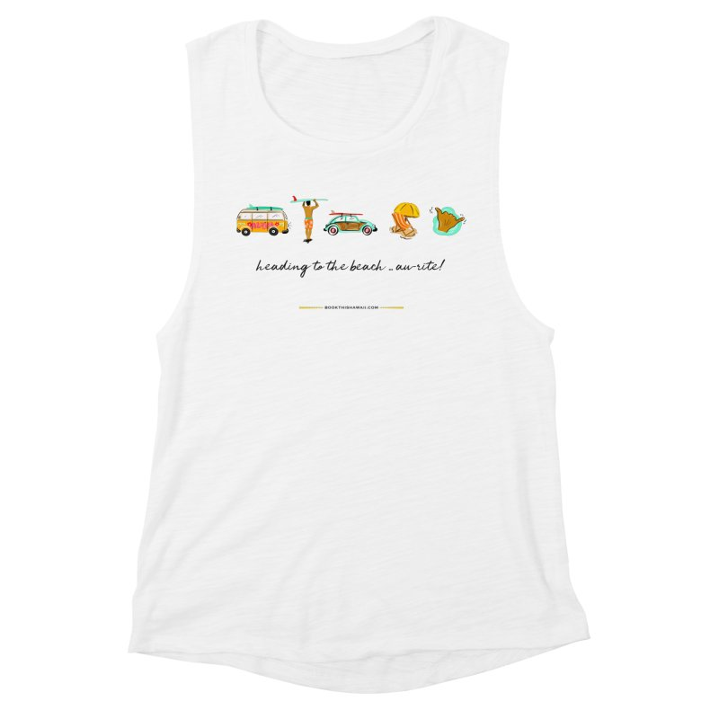 BTH.heading to beach.emoji Women's Muscle Tank by Book This Hawaii Apparel Shop