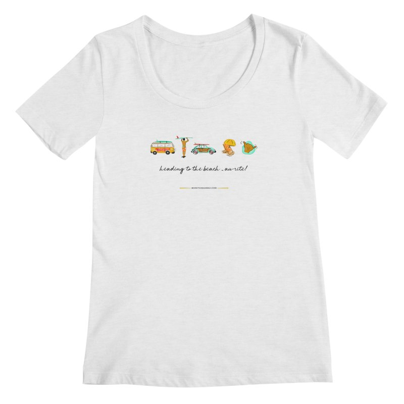 BTH.heading to beach.emoji Women's Regular Scoop Neck by Book This Hawaii Apparel Shop