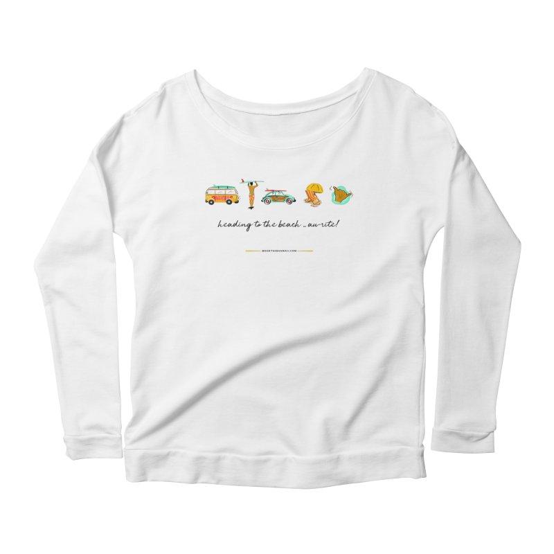 BTH.heading to beach.emoji Women's Scoop Neck Longsleeve T-Shirt by Book This Hawaii Apparel Shop