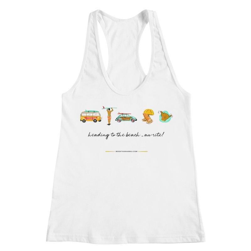 BTH.heading to beach.emoji Women's Racerback Tank by Book This Hawaii Apparel Shop