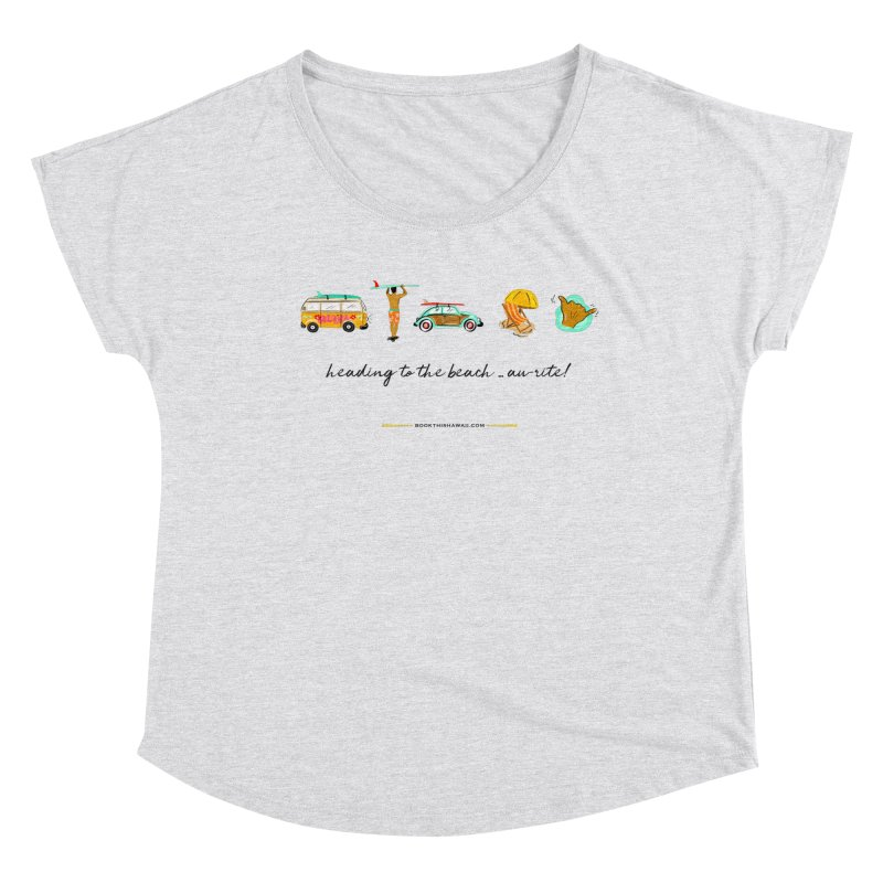 BTH.heading to beach.emoji Women's Scoop Neck by Book This Hawaii Apparel Shop