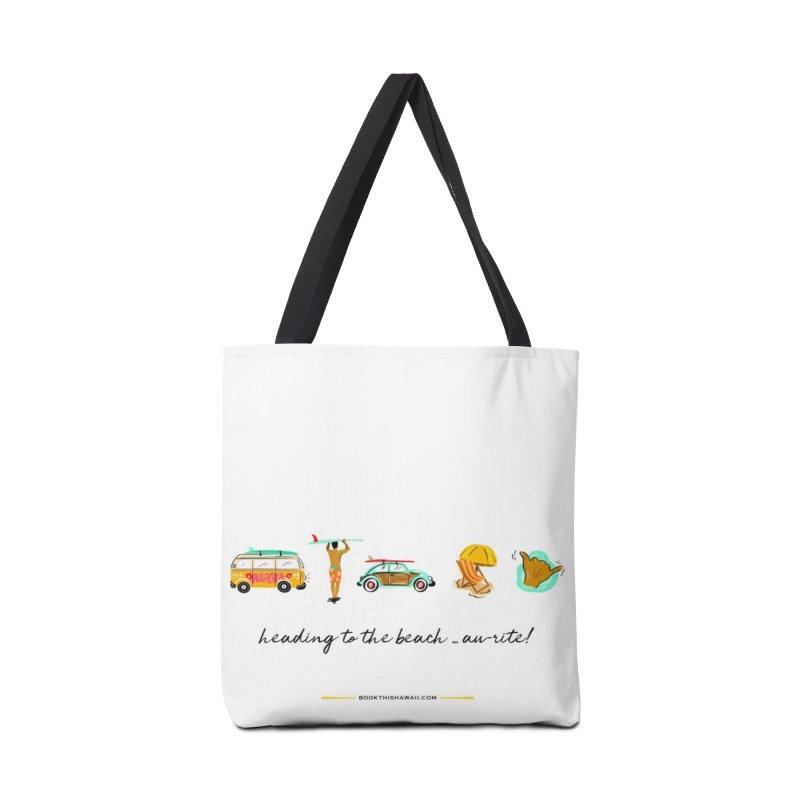 BTH.heading to beach.emoji Accessories Tote Bag Bag by Book This Hawaii Apparel Shop