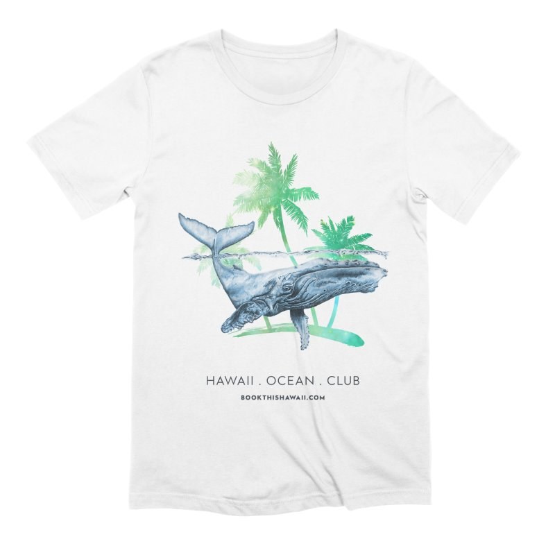 BTH.humpback in Men's Extra Soft T-Shirt White by Book This Hawaii Apparel Shop