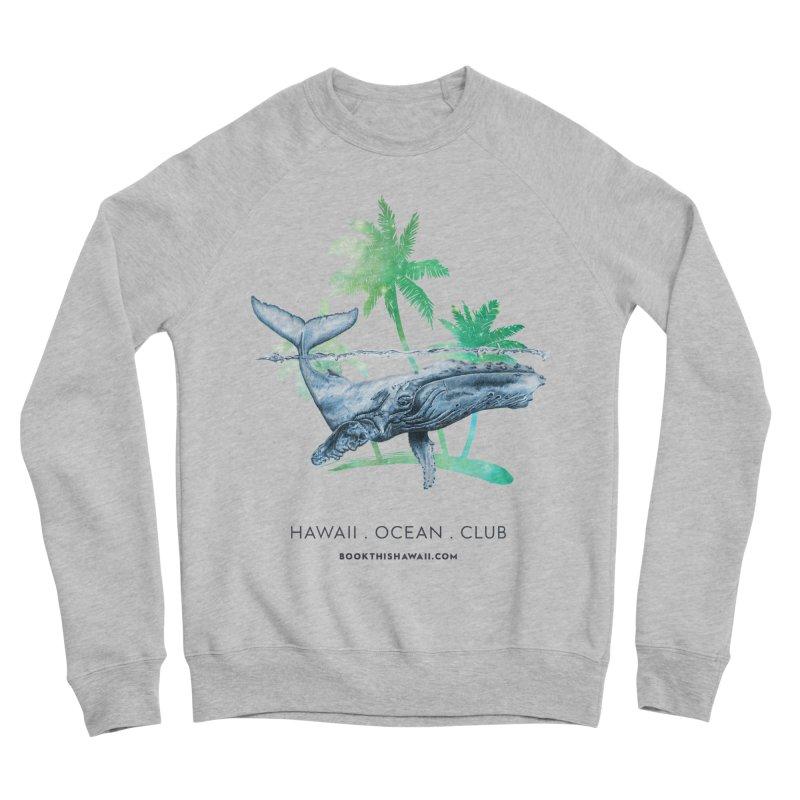 BTH.humpback Men's Sponge Fleece Sweatshirt by Book This Hawaii Apparel Shop