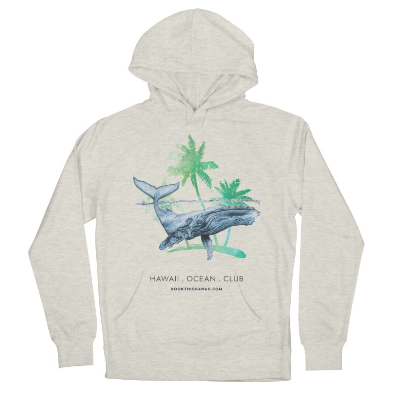 BTH.humpback Men's French Terry Pullover Hoody by Book This Hawaii Apparel Shop