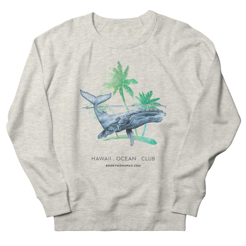 BTH.humpback Men's French Terry Sweatshirt by Book This Hawaii Apparel Shop