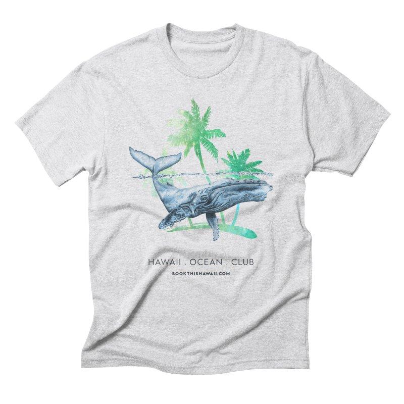 BTH.humpback Men's Triblend T-Shirt by Book This Hawaii Apparel Shop