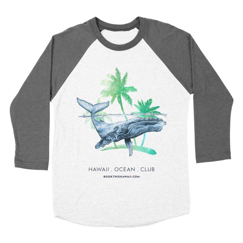 BTH.humpback Men's Baseball Triblend Longsleeve T-Shirt by Book This Hawaii Apparel Shop