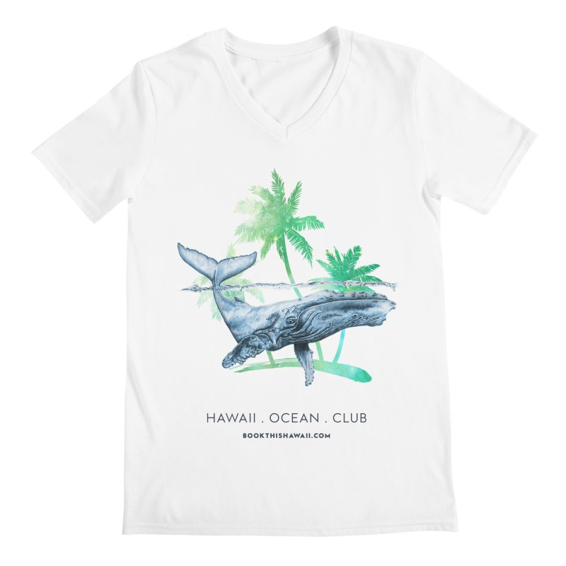 BTH.humpback Men's Regular V-Neck by Book This Hawaii Apparel Shop