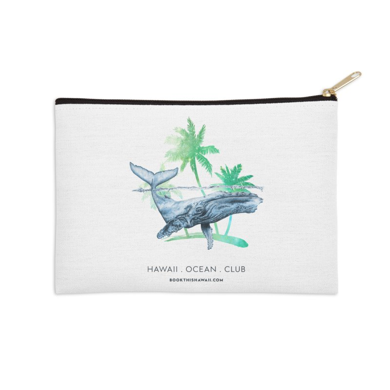 BTH.humpback Accessories Zip Pouch by Book This Hawaii Apparel Shop