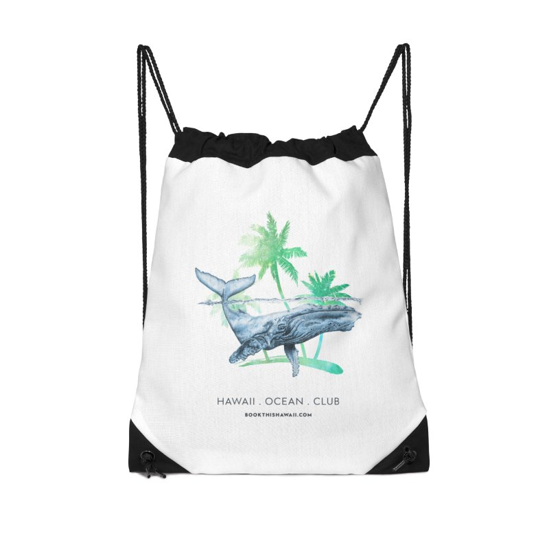 BTH.humpback Accessories Drawstring Bag Bag by Book This Hawaii Apparel Shop