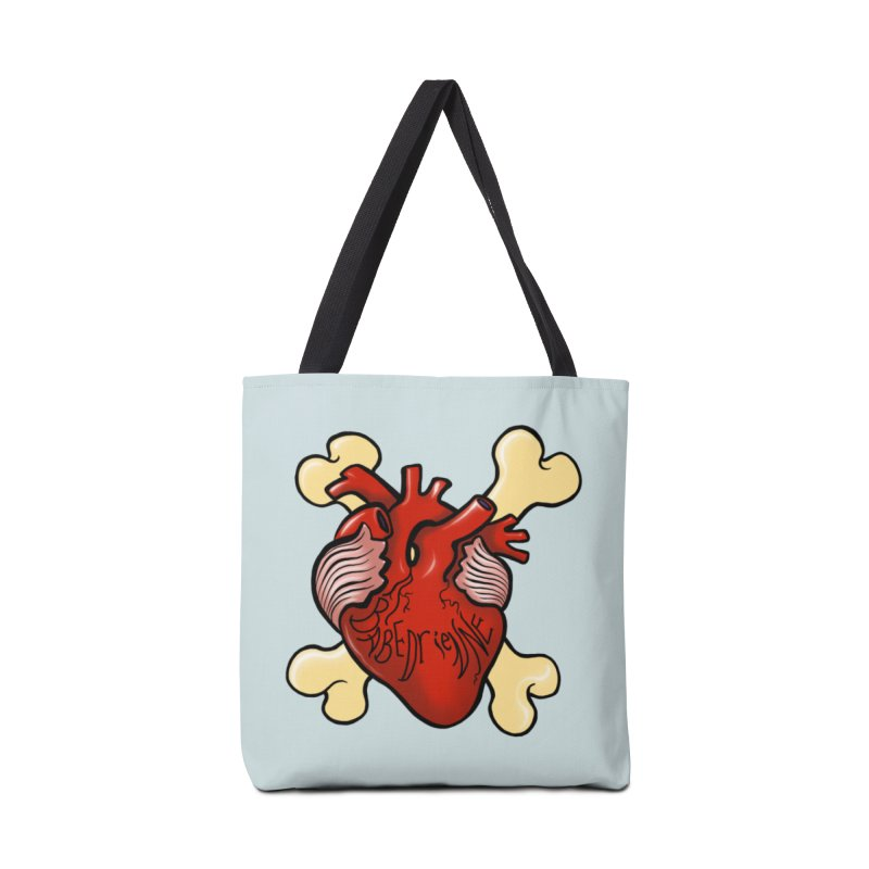 Heart and Crossbones Accessories Tote Bag Bag by Babedrienne's Artist Shop