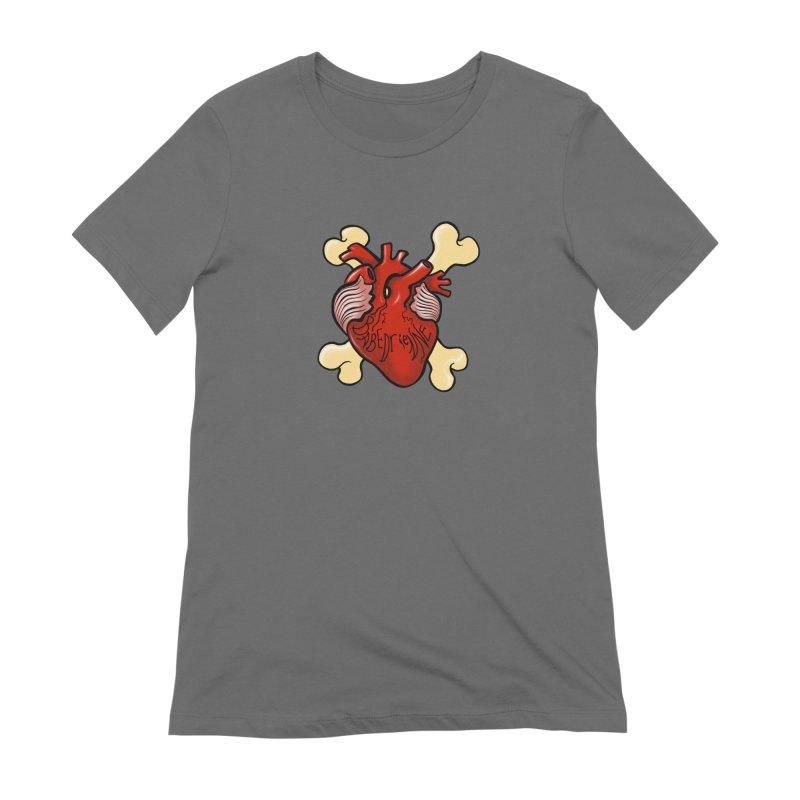 Heart and Crossbones Women's Extra Soft T-Shirt by Babedrienne's Artist Shop