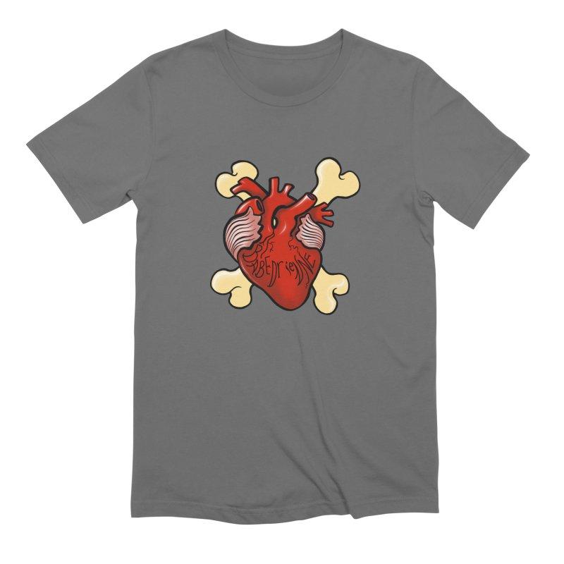 Heart and Crossbones Men's T-Shirt by Babedrienne's Artist Shop