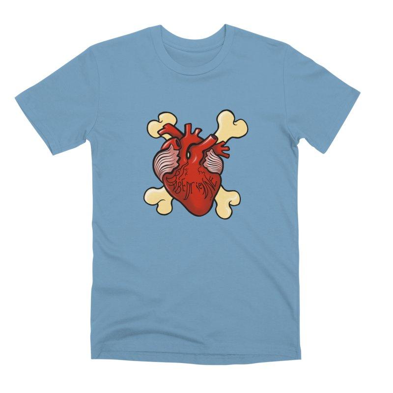 Heart and Crossbones Men's Premium T-Shirt by Babedrienne's Artist Shop