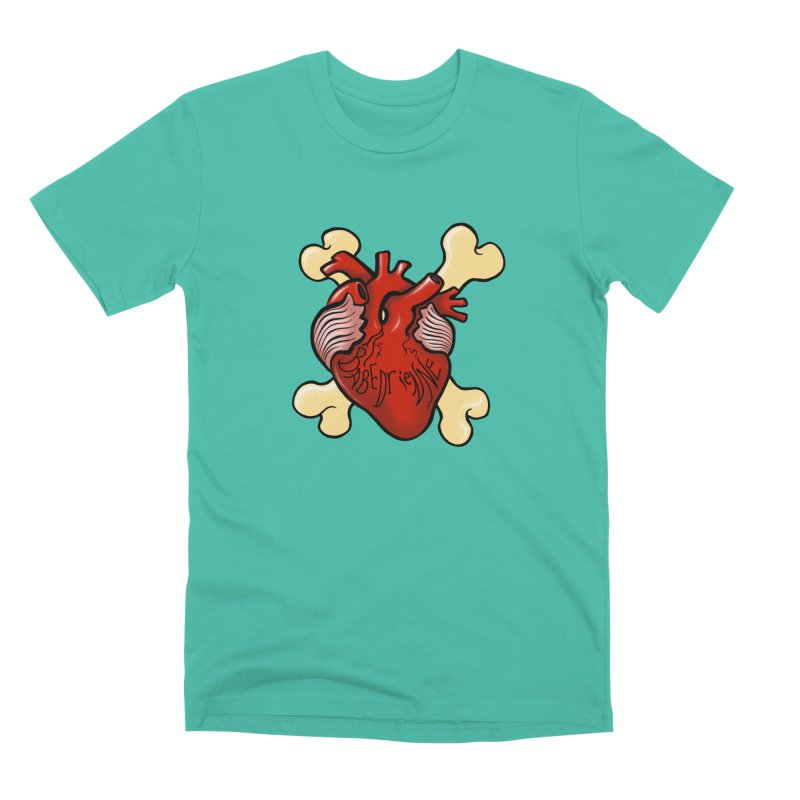 Heart and Crossbones Men's Premium T-Shirt by Babedrienne's Artist Shop