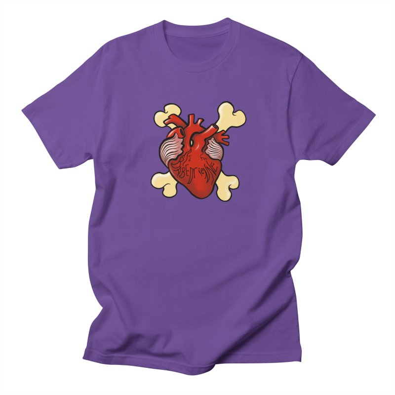 Heart and Crossbones Men's Regular T-Shirt by Babedrienne's Artist Shop