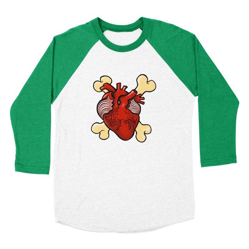 Heart and Crossbones Women's Baseball Triblend Longsleeve T-Shirt by Babedrienne's Artist Shop