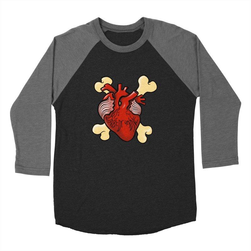 Heart and Crossbones Men's Baseball Triblend Longsleeve T-Shirt by Babedrienne's Artist Shop