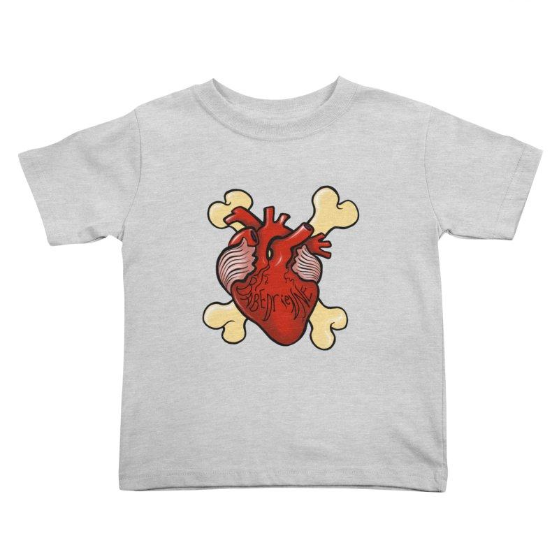 Heart and Crossbones Kids Toddler T-Shirt by Babedrienne's Artist Shop