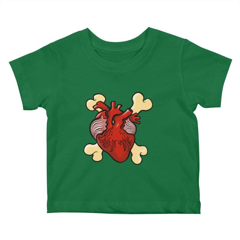 Heart and Crossbones Kids Baby T-Shirt by Babedrienne's Artist Shop