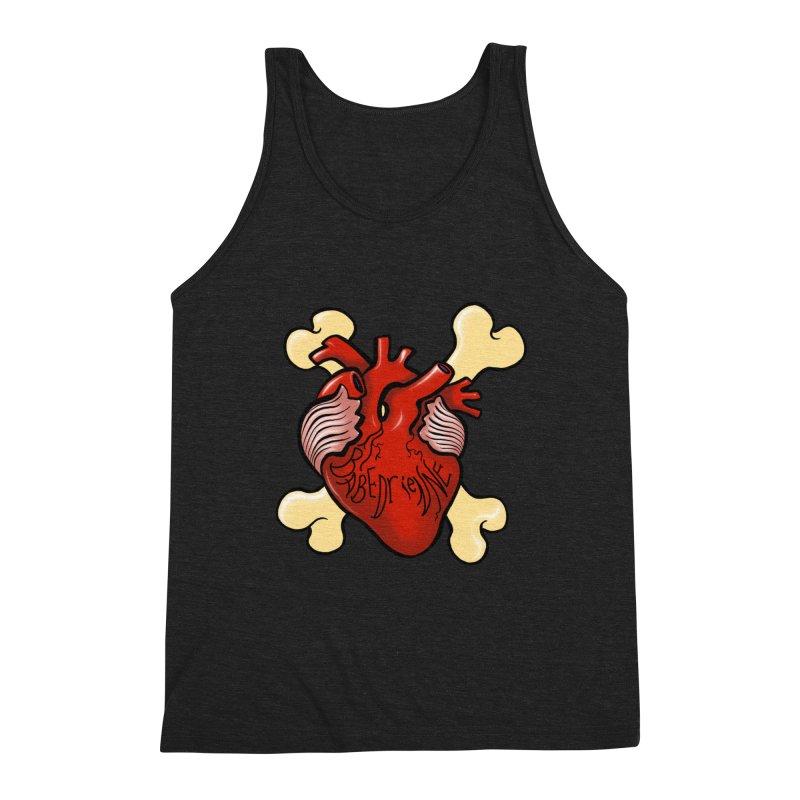 Heart and Crossbones Men's Triblend Tank by Babedrienne's Artist Shop