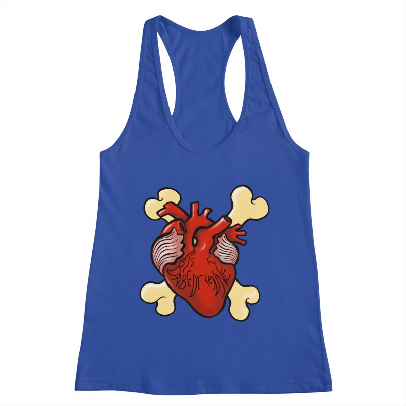 Heart and Crossbones Women's Racerback Tank by Babedrienne's Artist Shop