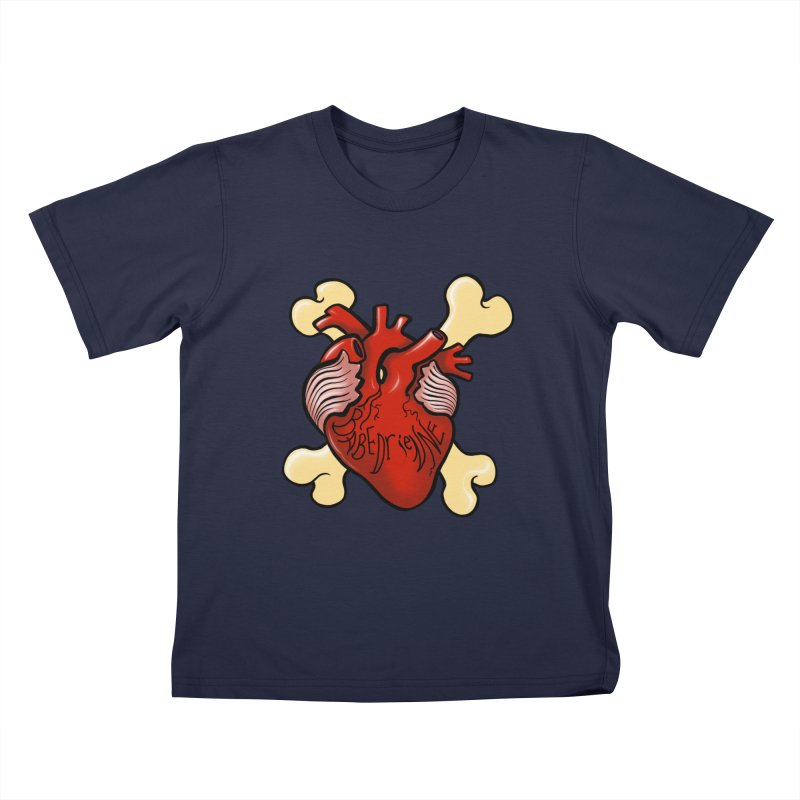 Heart and Crossbones Kids T-Shirt by Babedrienne's Artist Shop
