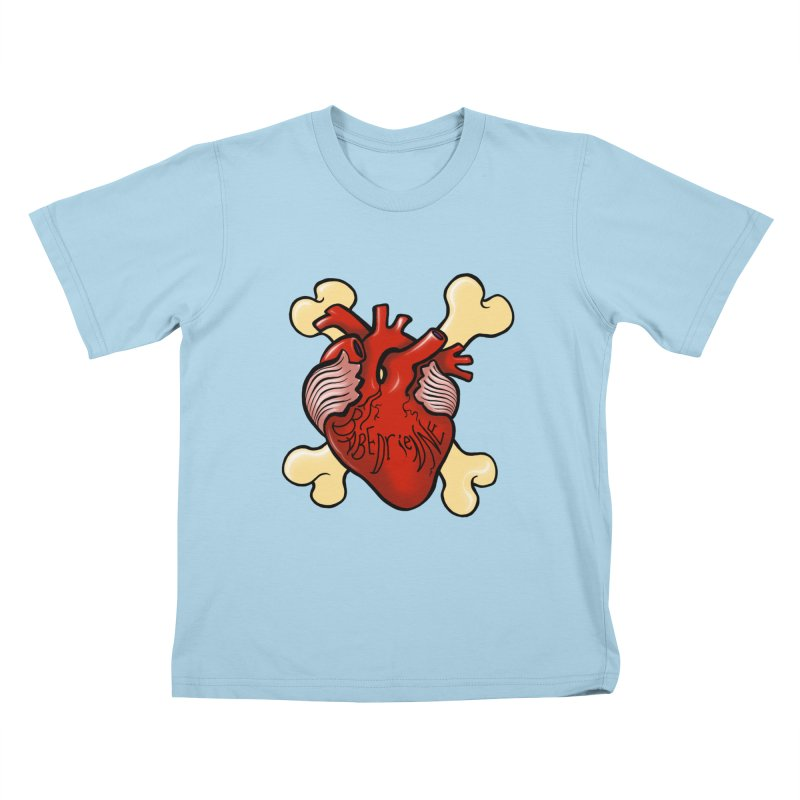 Heart and Crossbones Kids T-Shirt by Babedrienne's Artist Shop