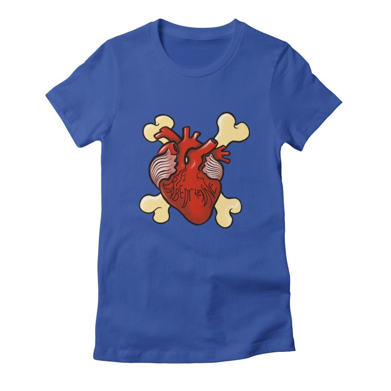 Heart and Crossbones Women's Fitted T-Shirt by Babedrienne's Artist Shop