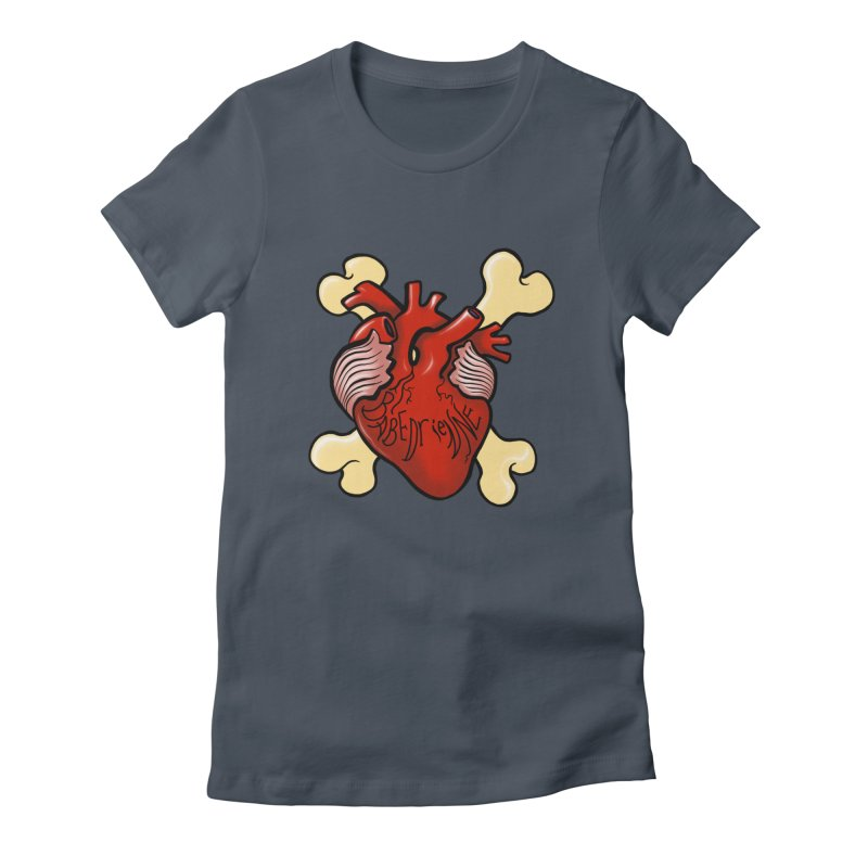 Heart and Crossbones Women's T-Shirt by Babedrienne's Artist Shop