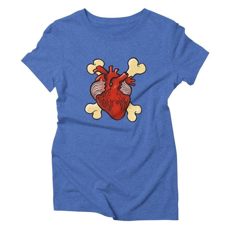 Heart and Crossbones Women's Triblend T-Shirt by Babedrienne's Artist Shop