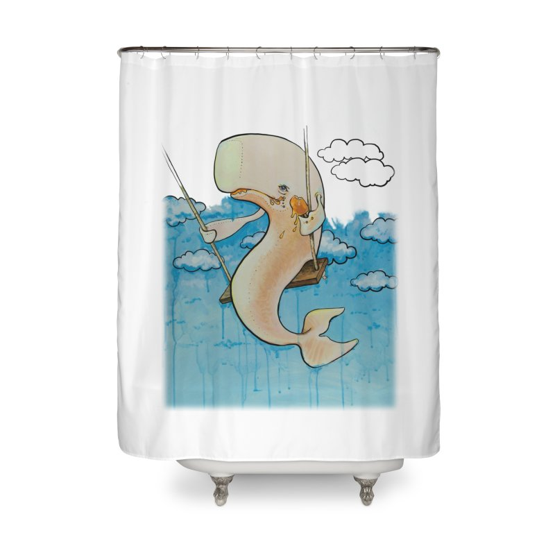Whale on a Swing (Babedrienne's Brainfarts Cover) Home Shower Curtain by Babedrienne's Artist Shop
