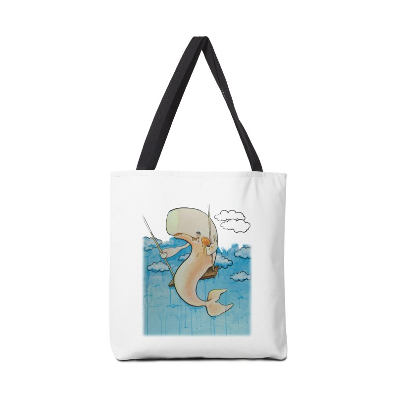 Whale on a Swing (Babedrienne's Brainfarts Cover) Accessories Tote Bag Bag by Babedrienne's Artist Shop
