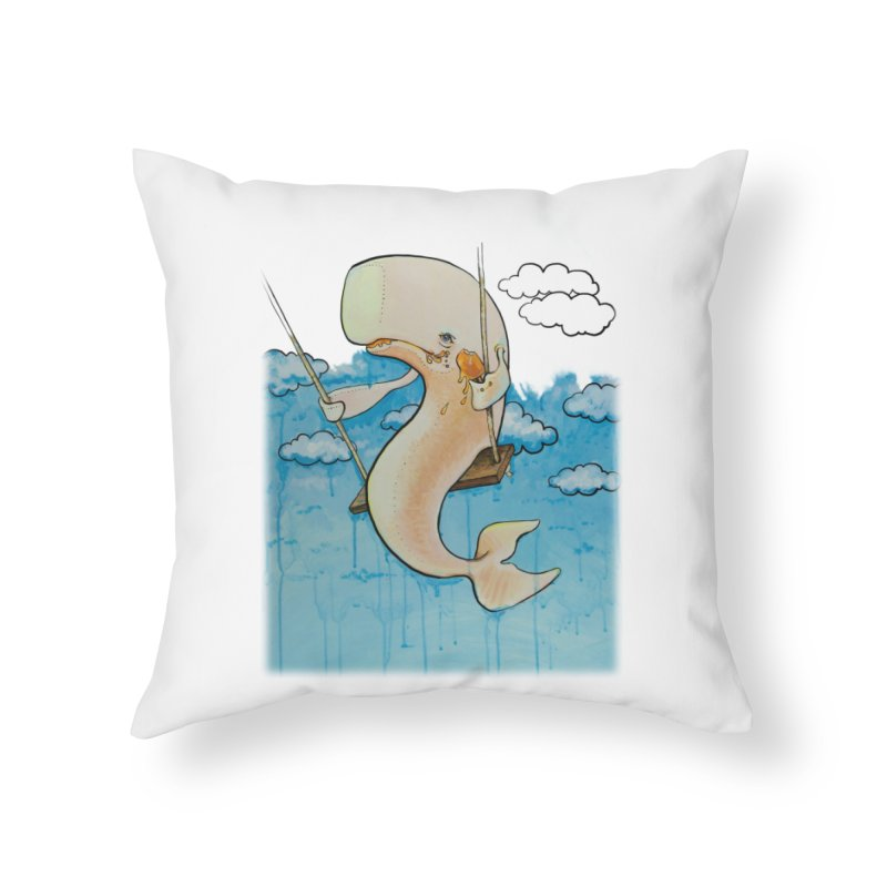 Whale on a Swing (Babedrienne's Brainfarts Cover) Home Throw Pillow by Babedrienne's Artist Shop