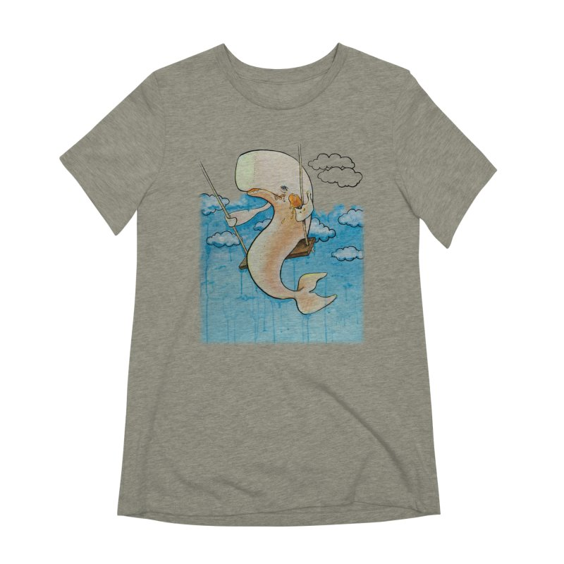 Whale on a Swing (Babedrienne's Brainfarts Cover) Women's Extra Soft T-Shirt by Babedrienne's Artist Shop