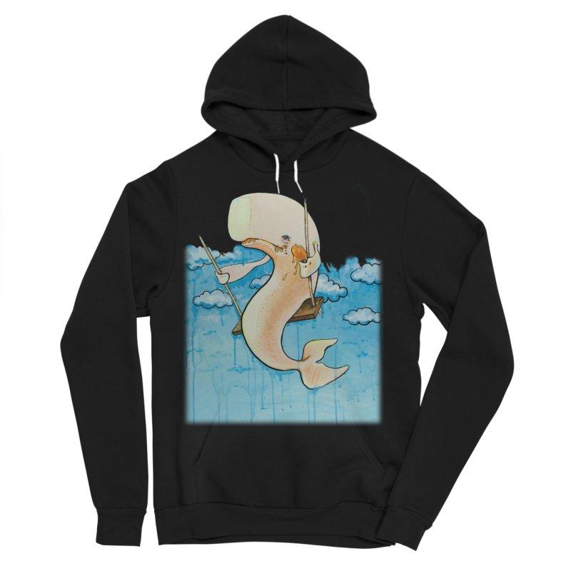 Whale on a Swing (Babedrienne's Brainfarts Cover) Men's Sponge Fleece Pullover Hoody by Babedrienne's Artist Shop