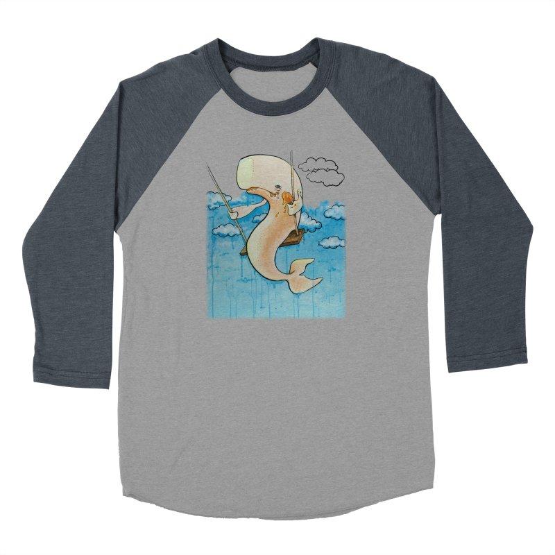 Whale on a Swing (Babedrienne's Brainfarts Cover) Men's Baseball Triblend Longsleeve T-Shirt by Babedrienne's Artist Shop