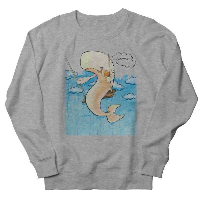 Whale on a Swing (Babedrienne's Brainfarts Cover) Men's French Terry Sweatshirt by Babedrienne's Artist Shop