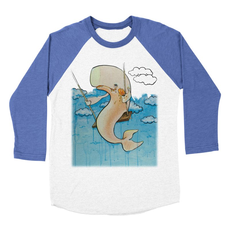 Whale on a Swing (Babedrienne's Brainfarts Cover) Women's Baseball Triblend Longsleeve T-Shirt by Babedrienne's Artist Shop
