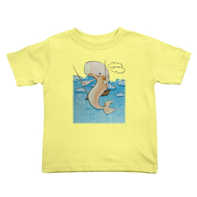 Whale on a Swing (Babedrienne's Brainfarts Cover) Kids Toddler T-Shirt by Babedrienne's Artist Shop