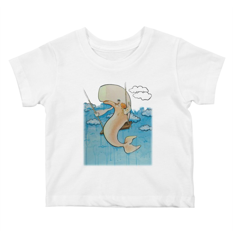 Whale on a Swing (Babedrienne's Brainfarts Cover) Kids Baby T-Shirt by Babedrienne's Artist Shop
