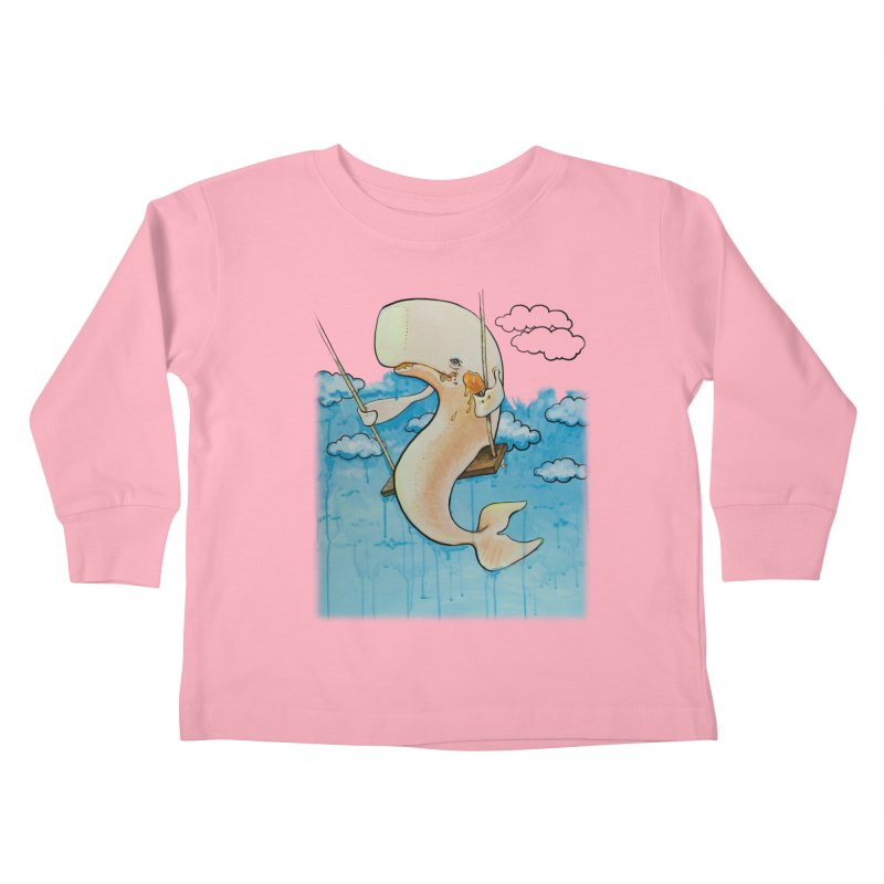 Whale on a Swing (Babedrienne's Brainfarts Cover) Kids Toddler Longsleeve T-Shirt by Babedrienne's Artist Shop
