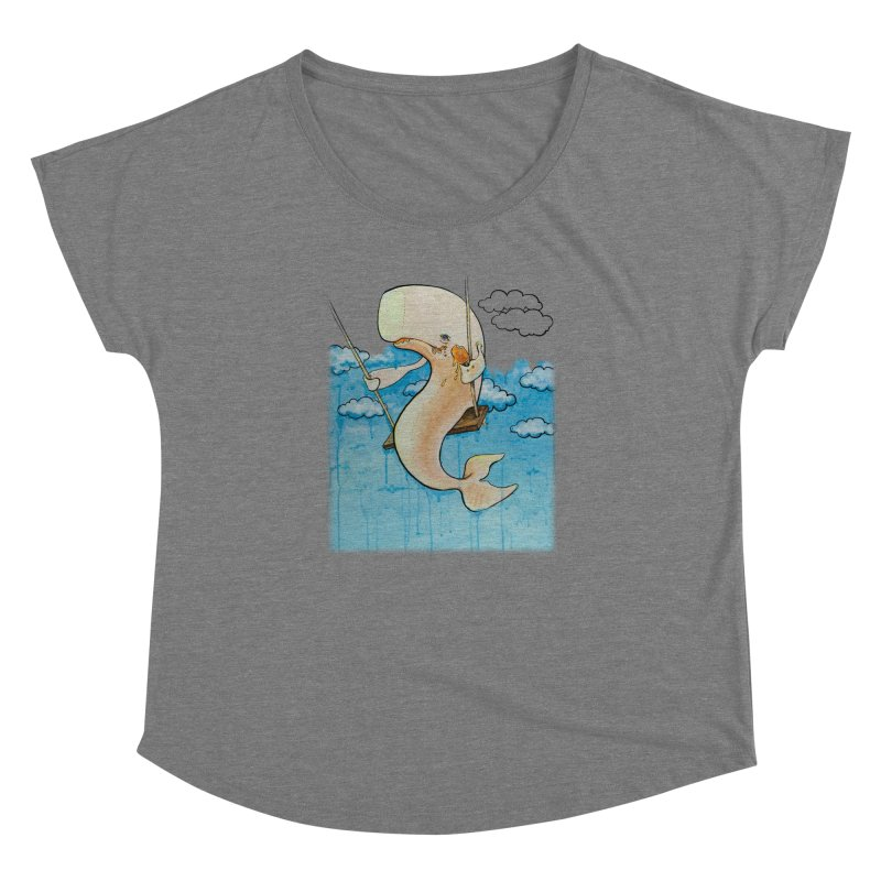 Whale on a Swing (Babedrienne's Brainfarts Cover) Women's Scoop Neck by Babedrienne's Artist Shop