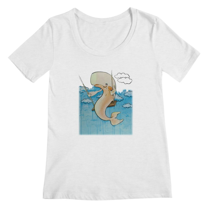 Whale on a Swing (Babedrienne's Brainfarts Cover) Women's Regular Scoop Neck by Babedrienne's Artist Shop