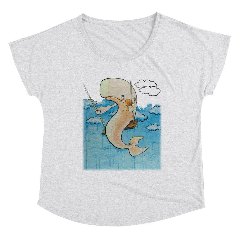 Whale on a Swing (Babedrienne's Brainfarts Cover) Women's Dolman Scoop Neck by Babedrienne's Artist Shop