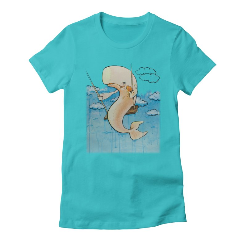 Whale on a Swing (Babedrienne's Brainfarts Cover) Women's Fitted T-Shirt by Babedrienne's Artist Shop