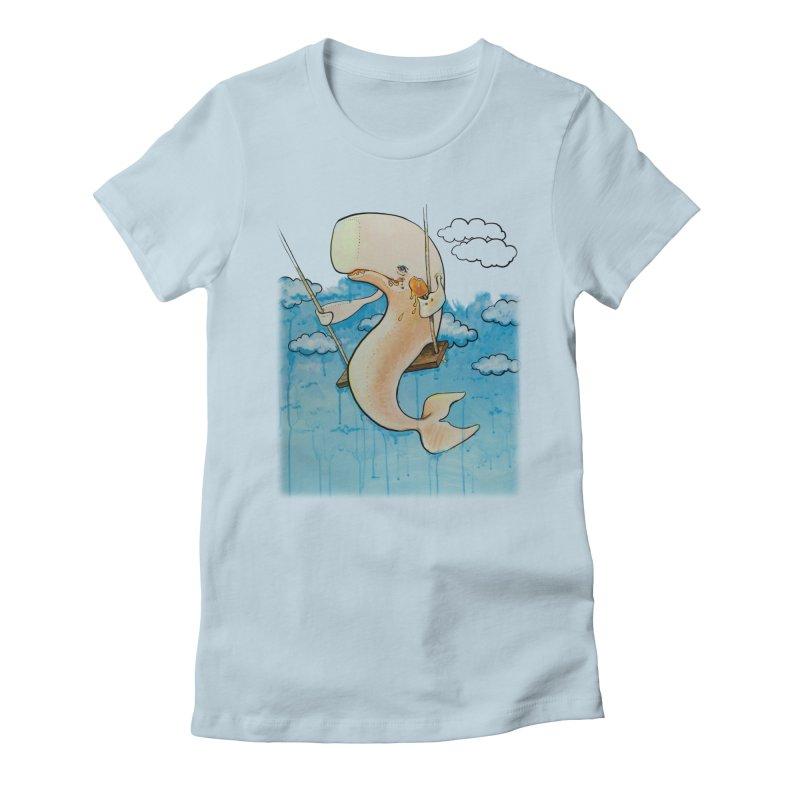 Whale on a Swing (Babedrienne's Brainfarts Cover) Women's T-Shirt by Babedrienne's Artist Shop