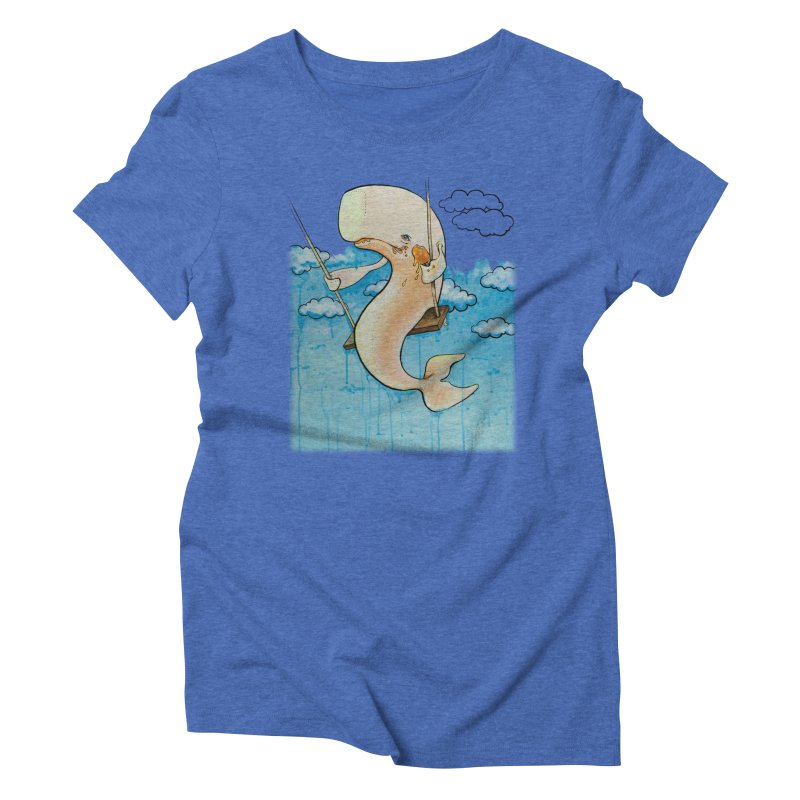Whale on a Swing (Babedrienne's Brainfarts Cover) Women's Triblend T-Shirt by Babedrienne's Artist Shop